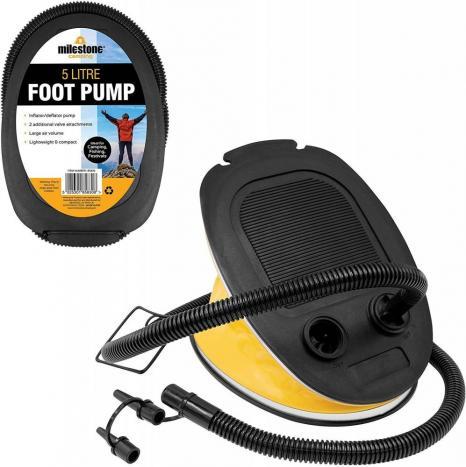 MILESTONE CAMPING 5L FOOT PUMP