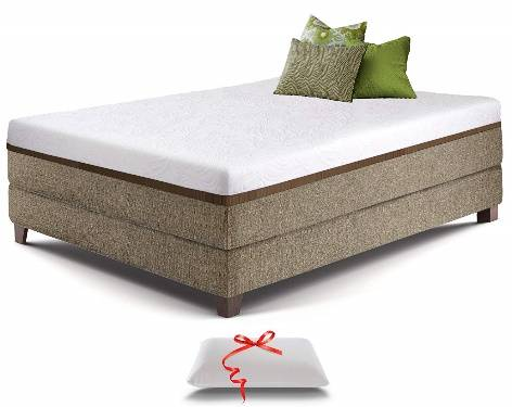 Live and Sleep Resort Ultra Bed in Box Cooling Gel Memory Foam Mattress in a Box with Memory Foam Pillow