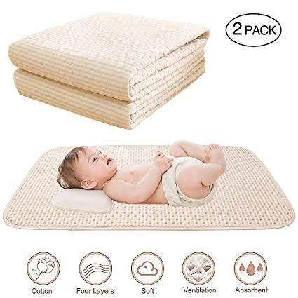 Baby Waterproof Bed Pad Organic Cotton - Helping Toddler sleep, so you can too!