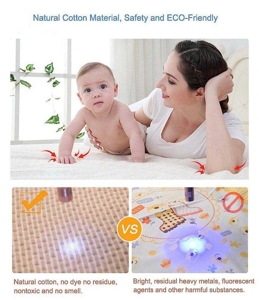 Baby Waterproof Bed Pad Organic Cotton
