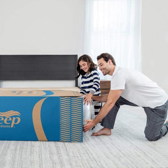 Sleep Innovations Marley Cooling Gel Memory Foam Mattress Bed in a Box