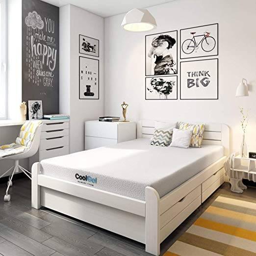 "Classic Brands Gel Ventilated Memory Foam Mattress 10"" - Durable and comfortable"