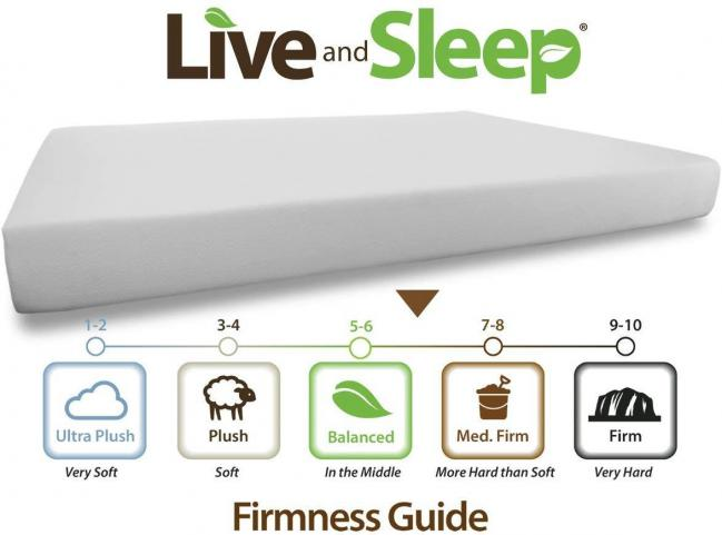 Live and Sleep Queen sized Memory Foam Mattress