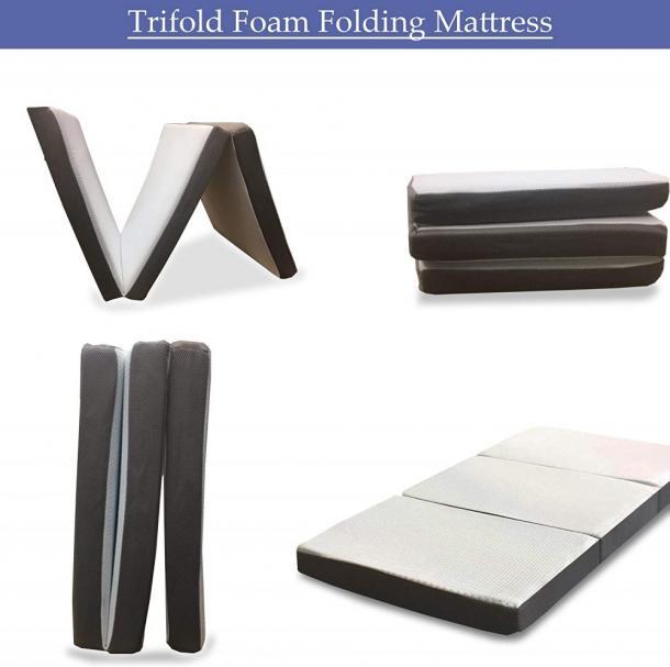 Mayton Folding Mattress Memory Foam Portable Tri-fold
