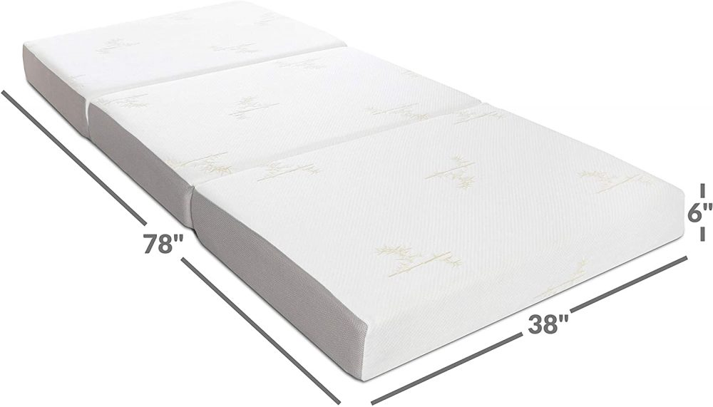 Milliard Memory Foam Tri Folding Mattress