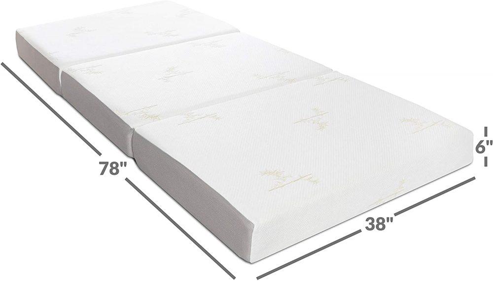 Milliard Memory Foam Tri Folding Mattress