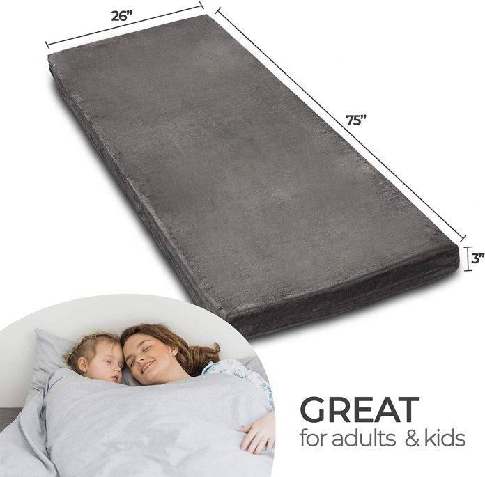 Zermatte Memory Foam Roll Up Mattress Floor Bed Camping Bed