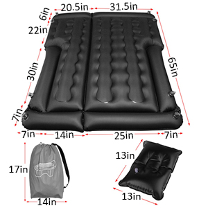 SUV Air Mattress Camping Bed with Pillow