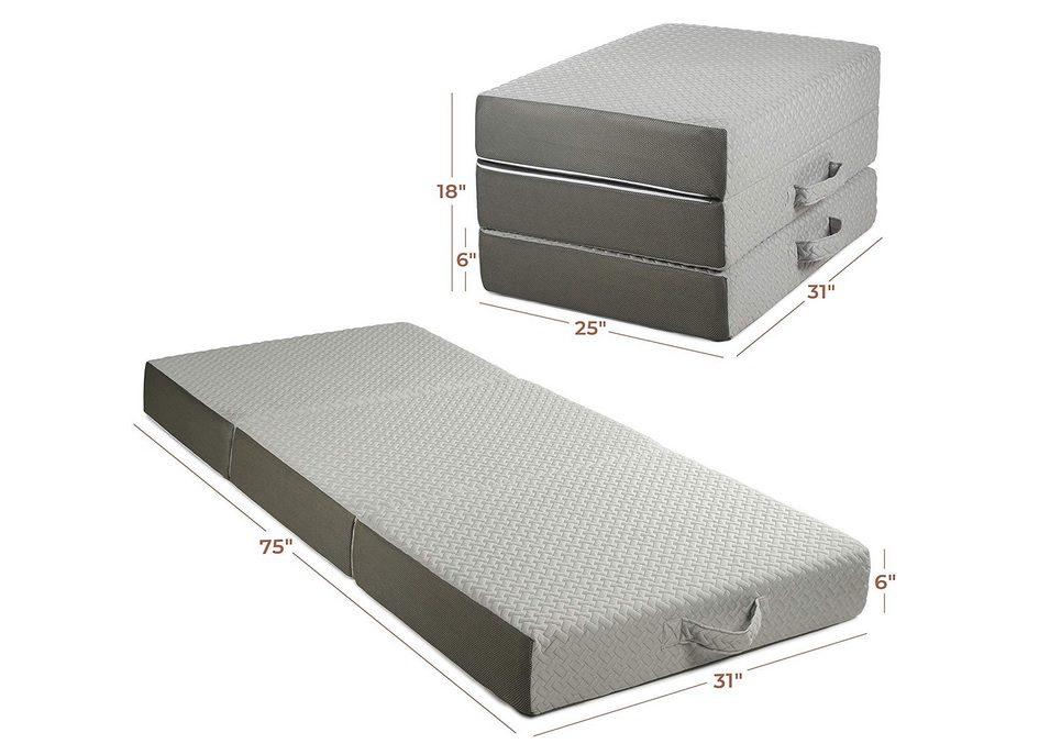 Milliard 6-Inch Memory Foam Tri Folding Mattress