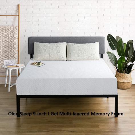 Olee Sleep 9-inch I Gel Multi-layered Memory Foam