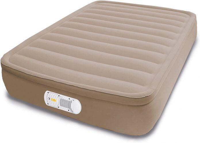AEROBED Flocked Mattress Camp Bed