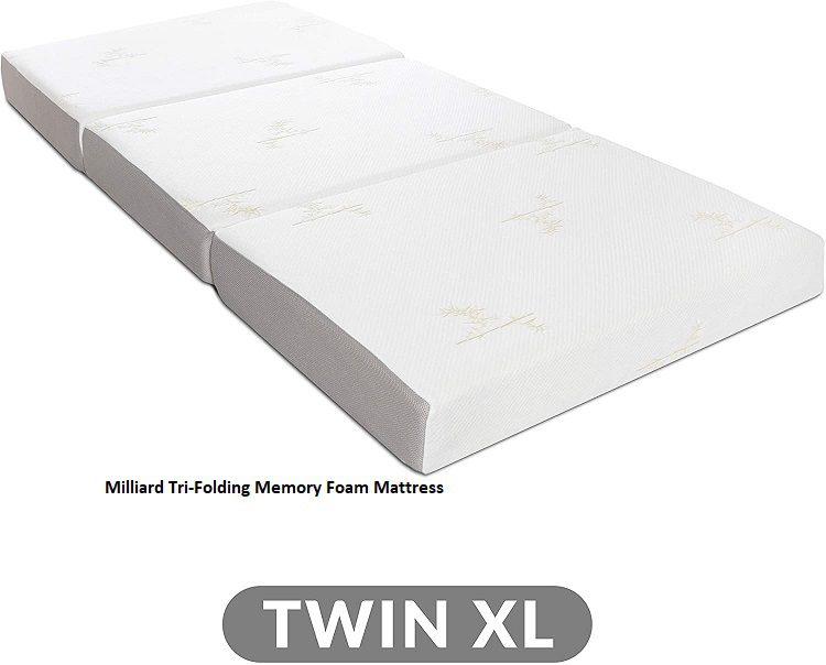 Milliard Tri-Folding Memory Foam Mattress