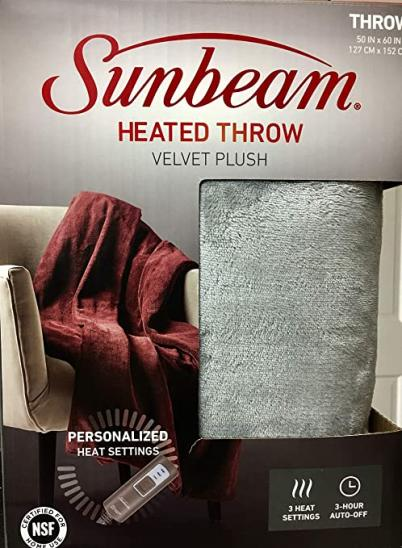Sunbeam Heated Throw Blanket