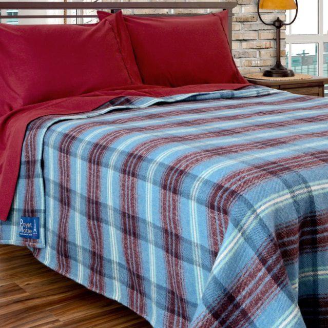 Poyet Motte Aubisque Heavyweight 100-Percent Wool Blanket