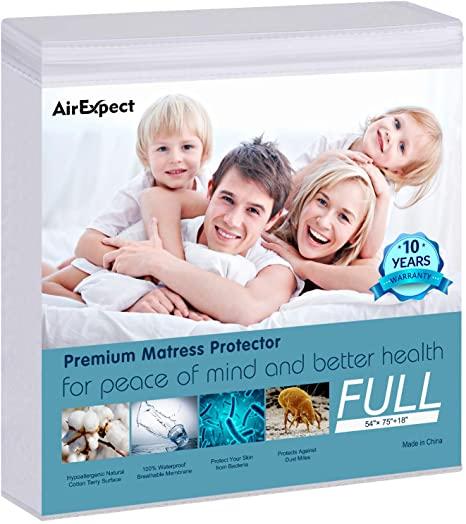 AirExpect Waterproof Mattress Protector Organic